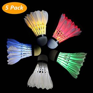 Philonext da 5 palline LED volani badminton, LED sport formazione badminton Shuttlecock Dark Night Glow Birdies Lighting for indoor outdoor sport attività de la marque Philonext image 0 produit